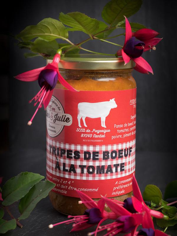 Tripes de bœuf à la tomate. 750g