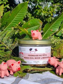 Fromage de tête, porc Cul noir Limousin. 180g